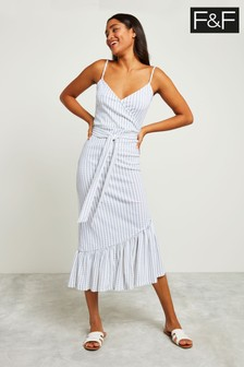 F&F Multi Frill Strappy Midi Dress