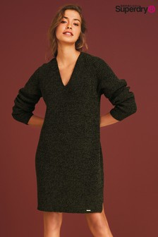 Superdry Dark Khaki Knitted Dress