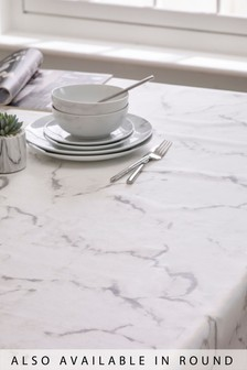 Wipe Clean Marble PVC Tablecloth