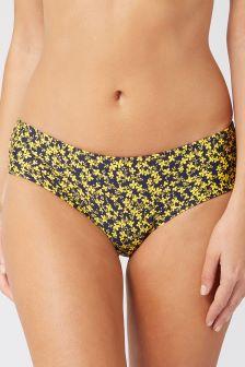 Ditsy Print Short Bikini Briefs