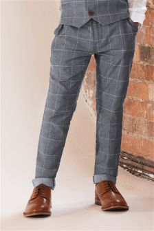 Grid Check Suit Trousers (12mths-16yrs)