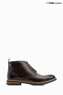Base London Brown Raynor Burnished Lace Up Chukka Boots