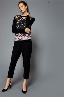 Ted Baker Dyanni Black Scallop Side Detail Trouser