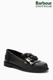 Barbour® Black Tassel Loafer