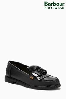 Barbour® Black Tassel Loafer