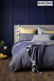 Secret Linen Store Brushed Effect Duvet Cover