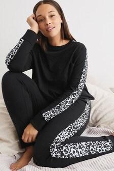Cotton Animal Side Stripe Pyjamas
