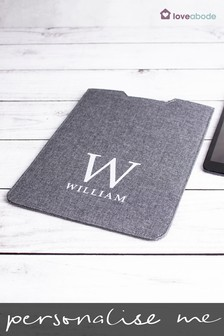 Personalised Grey iPad Case by Loveabode