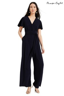 Phase Eight Blue Andrea Jersey Jumpsuit