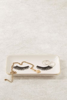 Ceramic Eyelash Jewellery Dish