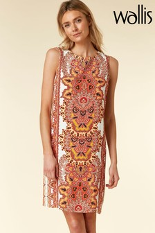 Wallis Orange Embellished Pinny Dress
