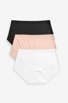 Fa M Ou S High Street Store Women/'s 5 Pack Plain /& Lace High Leg Knickers Briefs