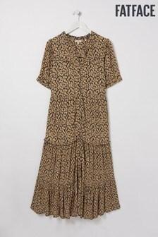 FatFace Natural Ella Ikat Texture Midi Dress