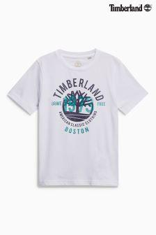 Timberland® T-Shirt mit Logo, weiß