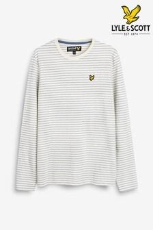 Lyle & Scott Long Sleeve Textured Stripe T-Shirt