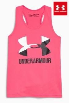 Under Armour Tanktop mit Logo, rosa