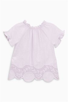 Lace Hem T-Shirt (3mths-6yrs)