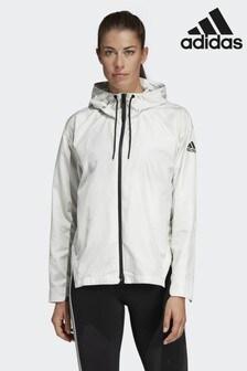 adidas White Urban Climastorm Wind Jacket