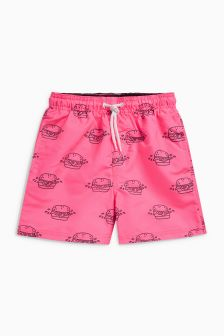 Burger Print Swim Shorts (9mths-16yrs)