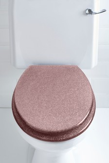 Glitzernder Toilettensitz