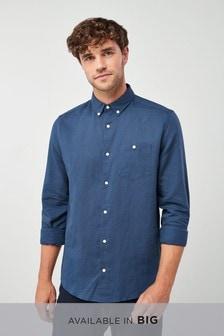 Langärmeliges Baumwoll-Leinenhemd