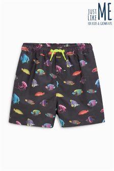 Пляжные шорты с рыбой (3 мес.-16 лет)