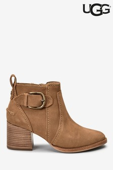 UGG® Tan Leahy Buckle Ankle Boots