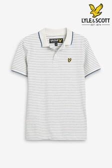 Lyle & Scott Textured Stripe Poloshirt
