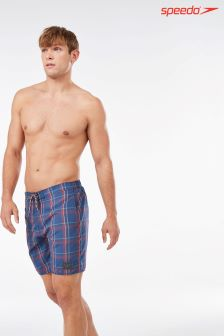 "Speedo® Red Check 18"" Water Short"