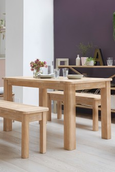 Huxley Dining Table And Bench Set
