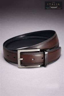 Signature Reversible Leather Belt