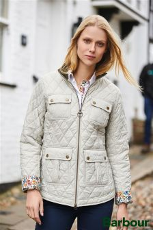 Barbour® Cream Liberty Quilt Jacket