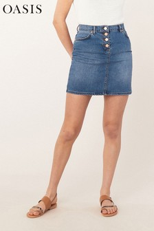 Oasis Blue Denim Mini Skirt