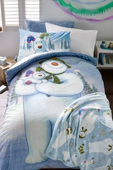 The Snowman And The Snowdog Duvet Cover and Pillowcase Set
