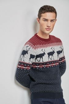 Reindeer Crew Neck Jumper