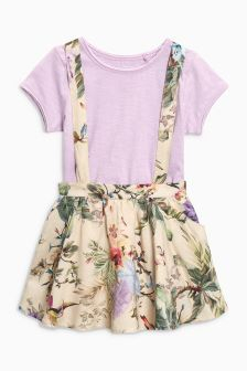 Floral Print Skirt And T-Shirt Set (3mths-6yrs)