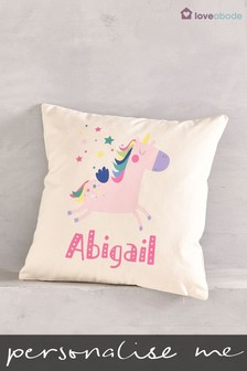 Personalised Unicorn Cushion By Loveabode