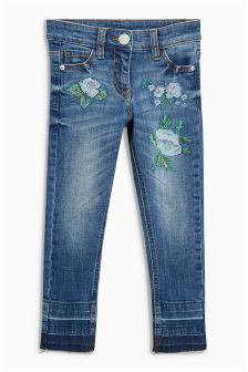 Cross Stitch Floral Skinny Jeans (3-16yrs)