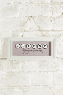 Friend Definition Hanging Decoration