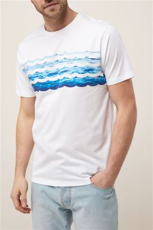 Wave Printed T-Shirt