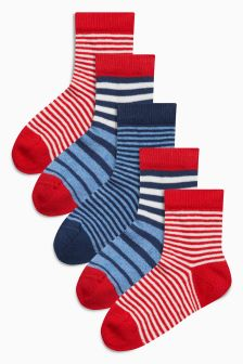 Stripe Socks Five Pack (Younger)