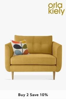 Orla Kiely Linden Snuggle Sofa With Oak Feet