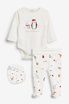 Christmas 3 Piece Set (0-9mths)