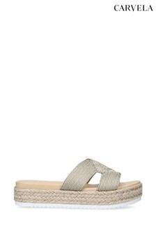 Carvela Kaia Gold Sandals