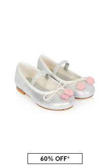 Bonpoint Girls Silver Leather Shoes