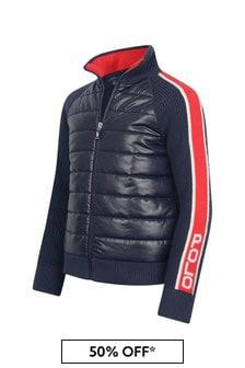Girls Navy Hybrid Jacket