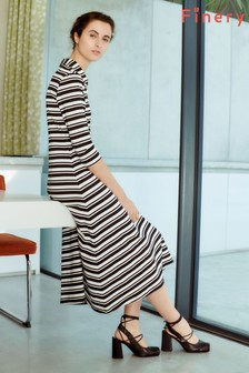 Finery London Multi Ella Monochrome Striped Dress