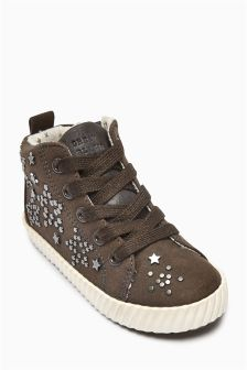 Stud High Tops (Younger Girls)