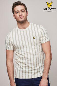Lyle & Scott Cream Deckchair Stripe T-Shirt