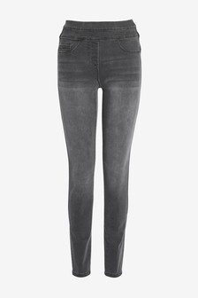 Моделирующие джинсовые леггинсы без застежки